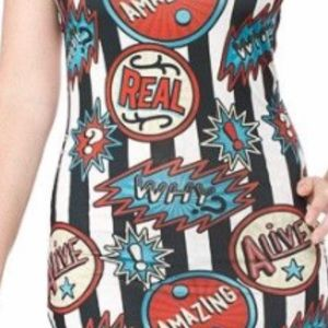 Sourpuss Dresses - NWT Sourpuss side show striped dress